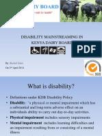 Disability Mainstreaming Presentation
