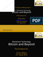 Blockchain Technology Bitcoin and Beyond by Mr. Festus Kitui