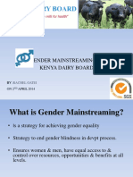 Gender Mainstreaming Presentation April 2014