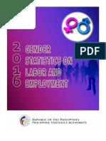 2016 Gender Statistics on Labor and Employment