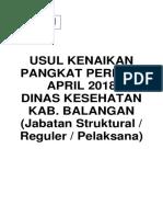 Cover Usul Kenaikan Pangkat Periode April 2018