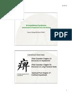 Bi Impediment Syndrome Assessment & Treatment Notes
