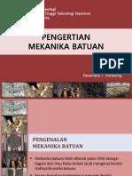 2. Pengertian Mekanika Batuan