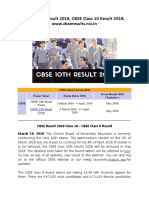 CBSE 10th Result 2018, CBSE Class 10 Result 2018, www.cbseresults.nic.in
