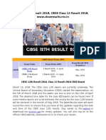 CBSE 12th Result 2018, CBSE Class 12 Result 2018, www.cbseresults.nic.in