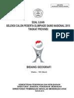 OSP Geografi 2015 - Soal