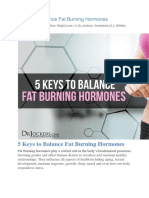 5 Keys to Balance Fat Burning Hormones
