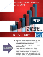 Ntpc-project Report on w c  Management at Sstpc-By Vidya Sagar