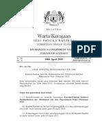 IPA Retikulasi Air Dan Pemasangan Paip(Amendment) 2015