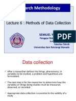 Lecture 6 - Methods of Data Collection (1)