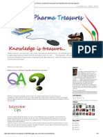 Pharma Treasures_ Quality Assurance (Pharma) Frequently Asked Interview Questions