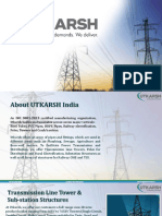 Utkarsh India -Transmission Line Towers Manufacturer in India