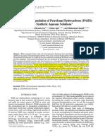 Electrochemical Degradation of Petroleum Hydrocarbons (PAHS)