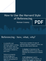 How to Use the Harvard Style of Referencing
