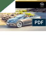 Opel Cascada Instruktionsbog