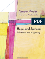 Hegel and Spinoza Substance and Negativity