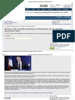 Sarkozy, Bajo Custodia Policial Por La Financiación de Su Campaña Electoral en 2007