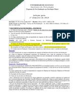 Edital - Psicologia Clínica (USP)