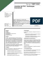 ABNT NBR 14264-1999 - Conexões de PVC - Verificação Dimensional