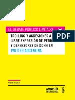Amnistía contra los trolls de Macri