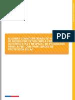 NotaTecnica Consideraciones de Prevencion a Radiacion UV de Origen Solar y Fotoproteccion