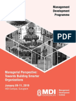 BC-Managerial Perspective Towards Building Smarter Organisations- Jan 09-11, 2019