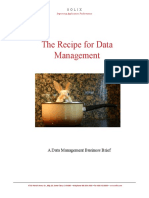 Recipe for Data Management
