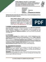Demanda de Tenencia De rosa Maria Zavala Ccari