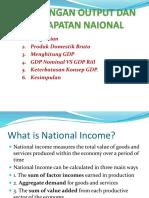 3. Perhitungan Output Dan Pendapatan Naional