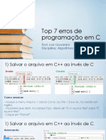 Top 7 Erros de Programação(1)