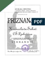 Priznanje, Lidrano 1995.