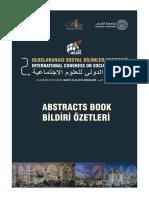 Uluslararası Sosyal Bilimler Kongresi II'nin (INCSOS 2018) Kudüs Özet Kitabı / International Congress on Social Sciences II (INCSOS 2018) Jerusalem Abstract Book