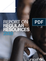 Report on Regular Resources 2009