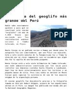 El enigma del geoglifo más grande del Perú