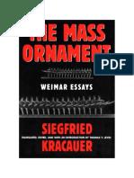 Kracauer, The Mass Ornament