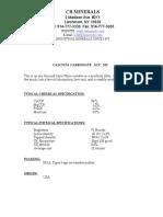 Calcium Carbonate - CB Minerals
