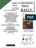 Wisconsin Carry Freedom Rally Flier
