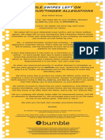 Bumble's full-page ad in The Dallas Morning News