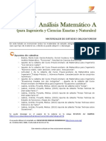 Analisis Matemático a -Bibliografia_1º 2018