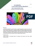 La Inclusión, Presente en El Pacto Educativo
