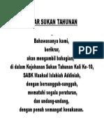 Ikrar SuKan taHunan