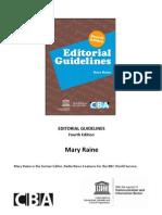 Editorial Guidlines CBA