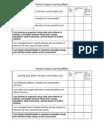 human impact learning matrix
