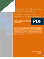 Efectos de Variacion Climatica y Del Hombre en La Degradacion de Tierras