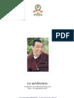 Bouddhisme Chepadorje Rinpoche - La Meditation