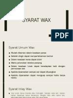 Syarat Wax