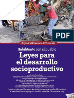 Leyes Para El Desarrollo Socioproductivo