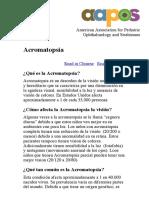 Acromatopsia — AAPOS