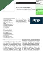 246 Peripartum Cardiomyopathy
