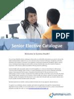 Senior Elective Catalogue PDF Updated December 11 2017